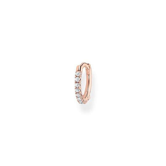 Single hoop earring white Stones rose gold from the Charming Collection collection in the THOMAS SABO online store