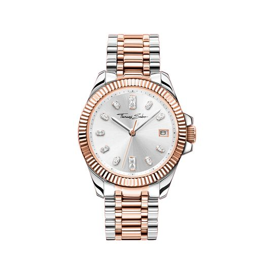 Women's watch two-tone rose gold silver from the  collection in the THOMAS SABO online store