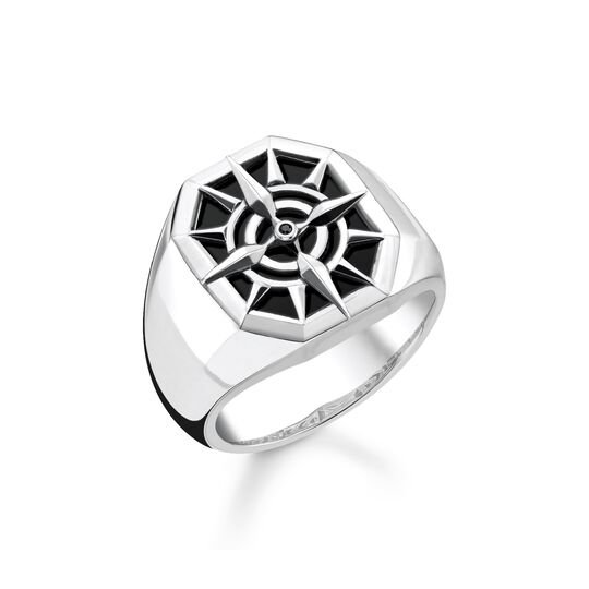 ring compass black from the  collection in the THOMAS SABO online store