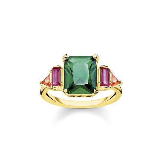 Ring colourful stones, gold from the  collection in the THOMAS SABO online store