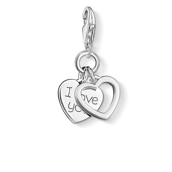 "ciondolo Charm ""cuori I LOVE YOU"" from the  collection in the THOMAS SABO online store"