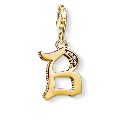 Charm pendant letter B gold from the Charm Club collection in the THOMAS SABO online store