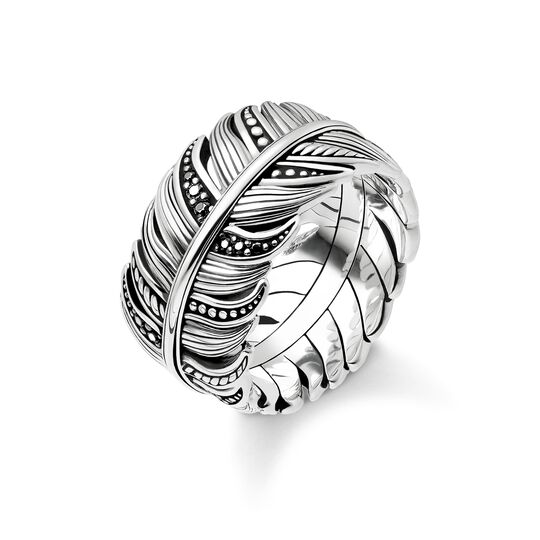 "ring ""Feather Pavé"" from the Rebel at heart collection in the THOMAS SABO online store"