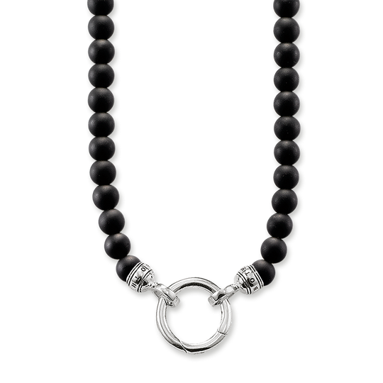 necklace obsidian from the Rebel at heart collection in the THOMAS SABO online store