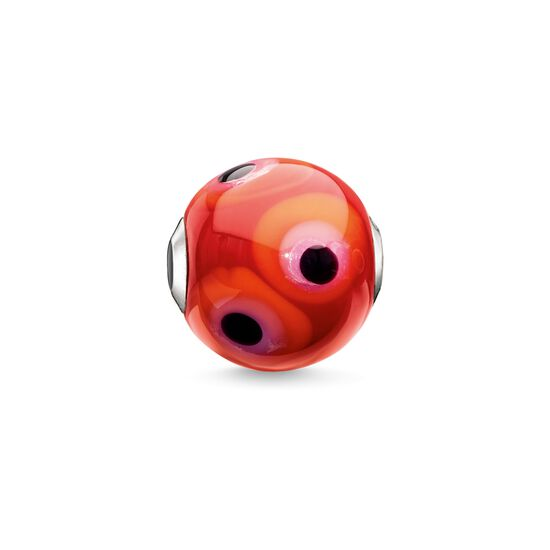 "Bead ""Glass Bead Red, Black, Hot Pink, Orange"" from the Karma Beads collection in the THOMAS SABO online store"