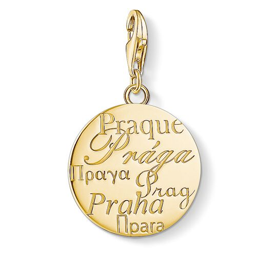 Charm pendant Prague gold from the Charm Club collection in the THOMAS SABO online store
