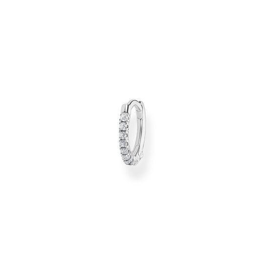 Single hoop earring white stones, silver from the Charming Collection collection in the THOMAS SABO online store