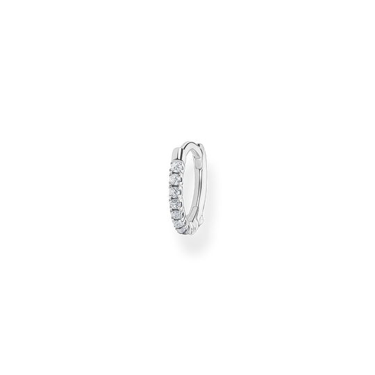 Créoleunique Pierres blanches argent de la collection Charming Collection dans la boutique en ligne de THOMAS SABO