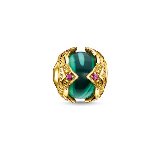 Bead green stone gold from the  collection in the THOMAS SABO online store