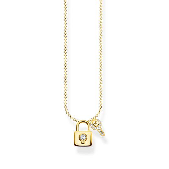 Chaîne cadenas avec clé or de la collection Charming Collection dans la boutique en ligne de THOMAS SABO