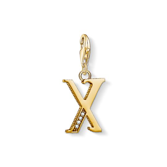 Charm pendant letter X gold from the Charm Club collection in the THOMAS SABO online store