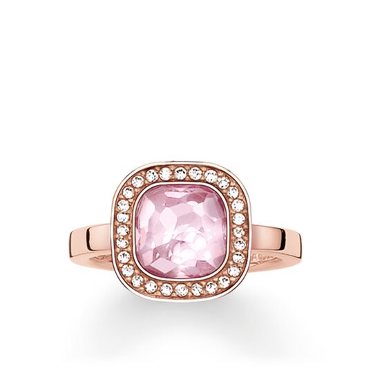 """solitaire ring """"pink Cosmo"""" from the Glam & Soul collection in the THOMAS SABO online store"""