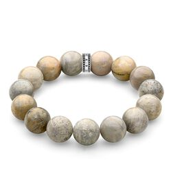 "bracelet ""Power Bracelet Beige"" from the Rebel at heart collection in the THOMAS SABO online store"