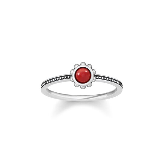 ring ethno red from the  collection in the THOMAS SABO online store