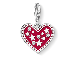 "Charm pendant ""Heart with stars "" from the  collection in the THOMAS SABO online store"