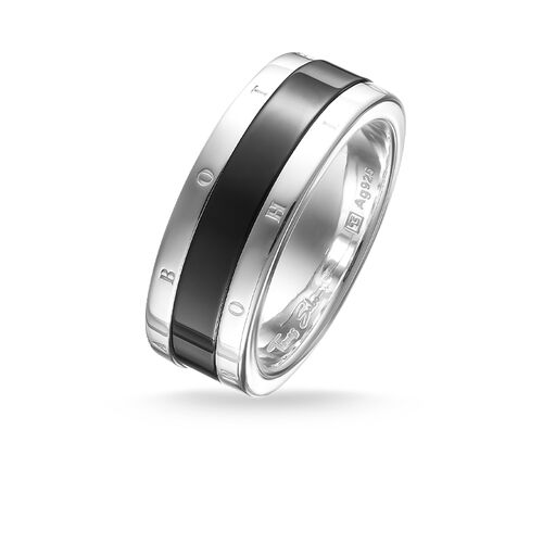 """band ring """"black ceramic"""" from the Glam & Soul collection in the THOMAS SABO online store"""