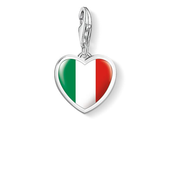 "ciondolo Charm ""Cuore bandiera Italia"" from the  collection in the THOMAS SABO online store"