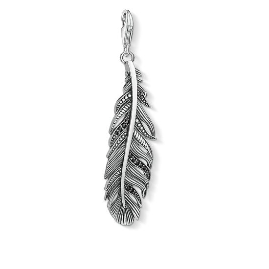 "Charm pendant ""feather"" from the  collection in the THOMAS SABO online store"