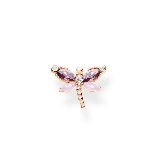 Single ear stud dragonfly with stones rose gold from the Charming Collection collection in the THOMAS SABO online store