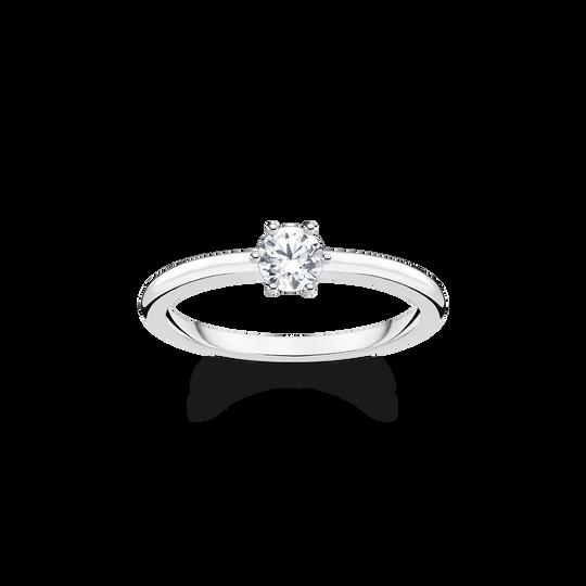 Bague pierre blanche argent de la collection Charming Collection dans la boutique en ligne de THOMAS SABO