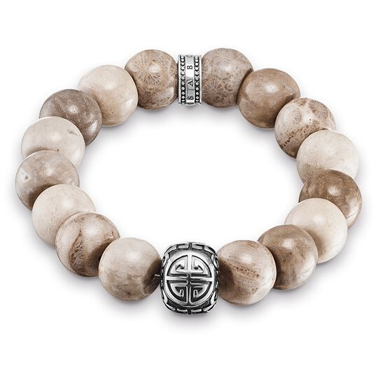 Power Bracelet Ethno Brown from the Rebel at heart collection in the THOMAS SABO online store