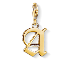 Charm pendant letter A gold from the  collection in the THOMAS SABO online store