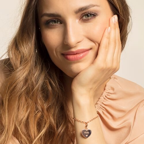 """Charm pendant """"Heart mum rose gold"""" from the  collection in the THOMAS SABO online store"""