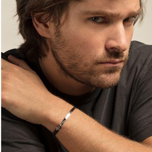 """bracelet """"tête de mort avec pavé"""" de la collection Love Bridge dans la boutique en ligne de THOMAS SABO"""
