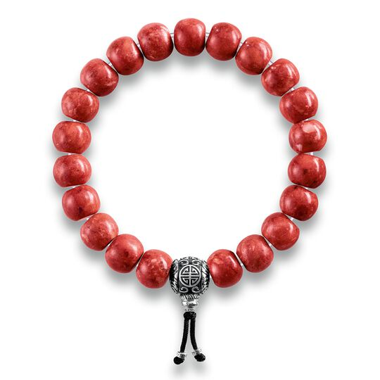 power bracelet ethnic red from the Rebel at heart collection in the THOMAS SABO online store