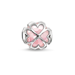 """Bead """"quadrifoglio rosa"""" from the Karma Beads collection in the THOMAS SABO online store"""