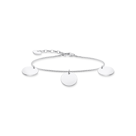 Bracelet with three discs silver from the Glam & Soul collection in the THOMAS SABO online store