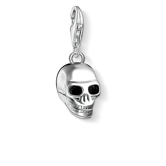 Charm-Anhänger Totenkopf silber aus der Charm Club Kollektion im Online Shop von THOMAS SABO