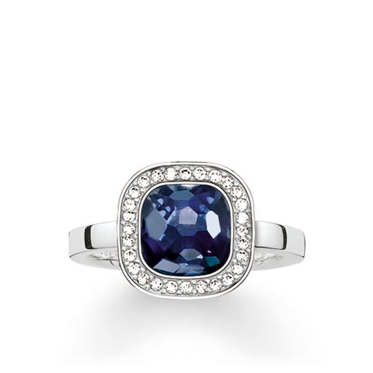 solitaire ring dark blue cosmo from the Glam & Soul collection in the THOMAS SABO online store