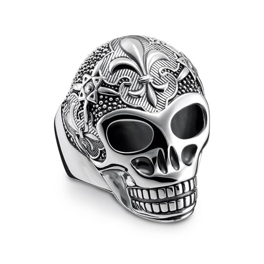 """ring """"Lily Skull"""" from the Rebel at heart collection in the THOMAS SABO online store"""