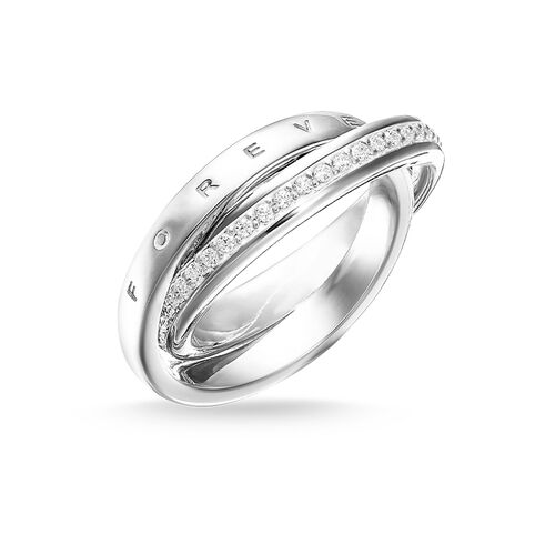 """ring """"TOGETHER FOREVER"""" from the Glam & Soul collection in the THOMAS SABO online store"""