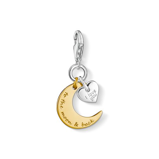 Charm-Anhänger Mond & Herz I LOVE YOU TO THE MOON & BACK aus der Charm Club Kollektion im Online Shop von THOMAS SABO