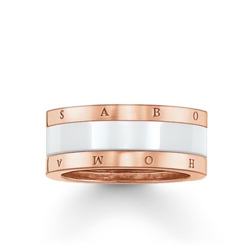 """band ring """"white ceramic"""" from the Glam & Soul collection in the THOMAS SABO online store"""