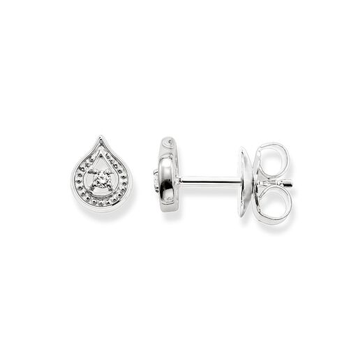 """ear studs """"white lotus small"""" from the Glam & Soul collection in the THOMAS SABO online store"""