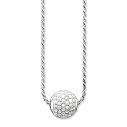 "necklace ""white pavé"" from the Karma Beads collection in the THOMAS SABO online store"