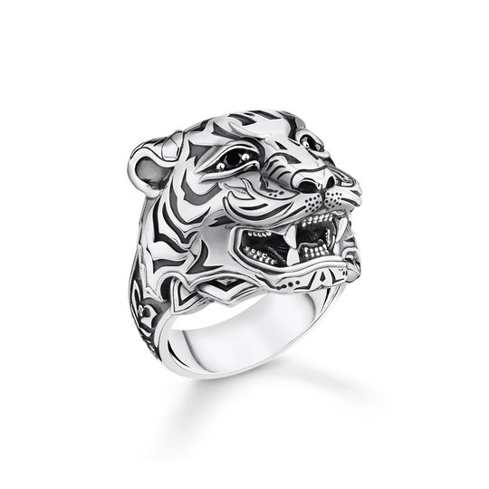 bague tigre argent de la collection Rebel at heart dans la boutique en ligne de THOMAS SABO