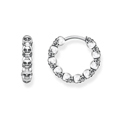 """hoop earrings """"skulls"""" from the Glam & Soul collection in the THOMAS SABO online store"""