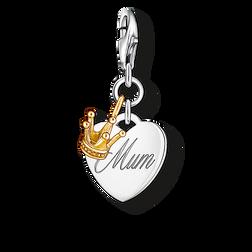 """pendentif Charm """"cœur MUM & couronne"""" de la collection  dans la boutique en ligne de THOMAS SABO"""