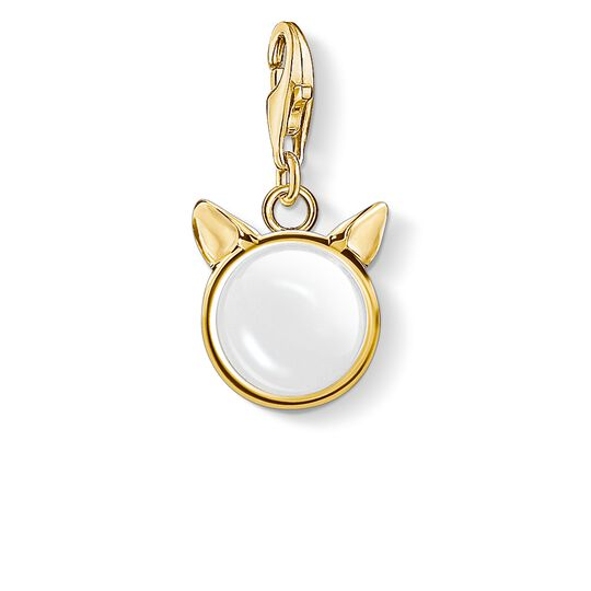 charm pendant cat's ears, gold from the Charm Club collection in the THOMAS SABO online store