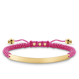 "bracelet ""pink skull"" from the Love Bridge collection in the THOMAS SABO online store"