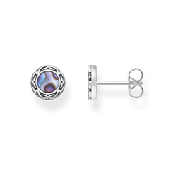 ear studs abalone mother-of-pearl from the Rebel at heart collection in the THOMAS SABO online store