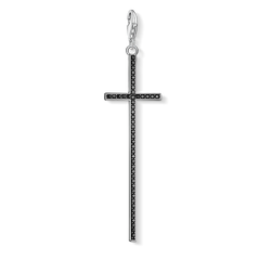 "Charm pendant ""black cross"" from the  collection in the THOMAS SABO online store"