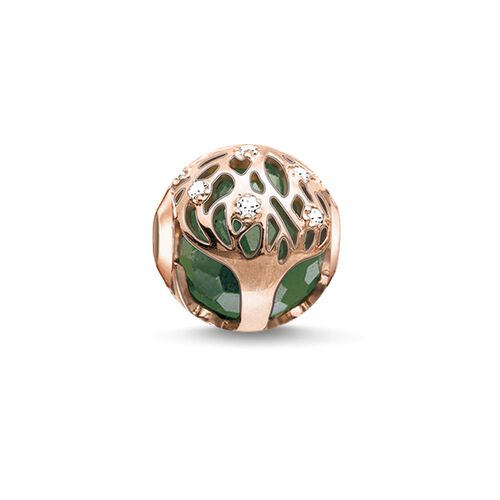 """Bead """"green tree"""" from the Karma Beads collection in the THOMAS SABO online store"""