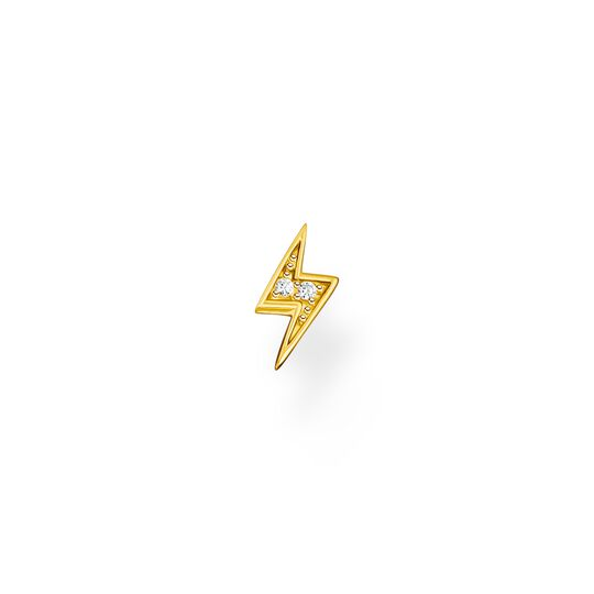 Single ear stud flash gold from the Charming Collection collection in the THOMAS SABO online store