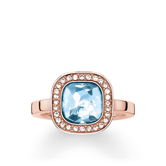"solitaire ring ""light-blue Cosmo"" from the Glam & Soul collection in the THOMAS SABO online store"