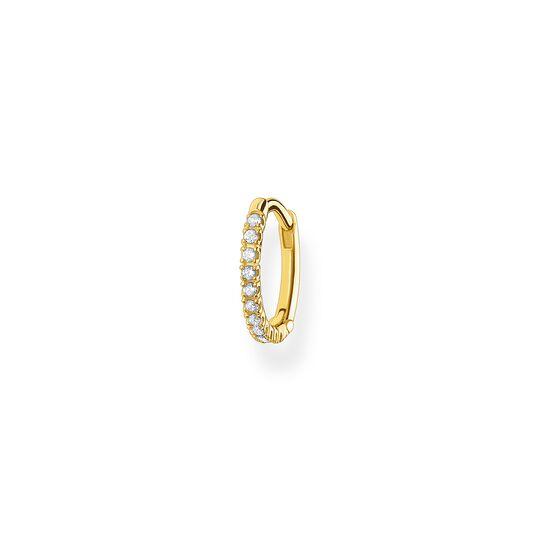 Einzel Creole weiße Steine gold aus der Charming Collection Kollektion im Online Shop von THOMAS SABO